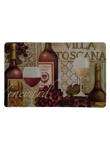 Giz Home Comfort Mat Eko Mutfak Paspası 45X75 Villa Toscana Renkli